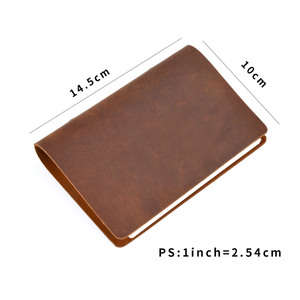 Image 3 - Hot Sale Classic Business Notebook A7 Genuine Leather Cover Loose Leaf Notebook Diary Travel Journal Sketchbook Planner