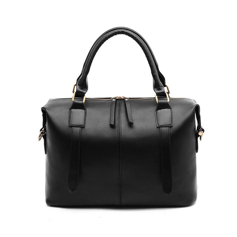 Handbag Tote-Bags Messenger-Bag Larger-Capacity Female Fashion Women Lady's PU Soft Casual