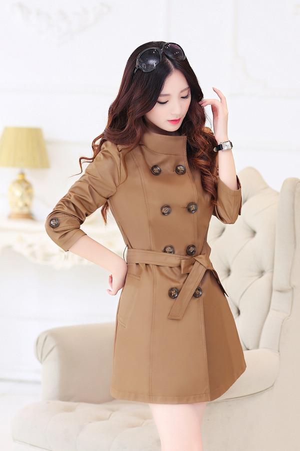 Online Shop New Fashion Women's coatsElegant Slim long coats Plus