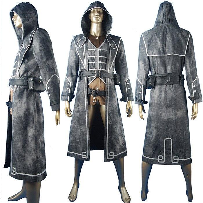 Dishonored Corvo Attano Outfit Hoodie Uniform Halloween Anime Comic - Maskeradkläder och utklädnad