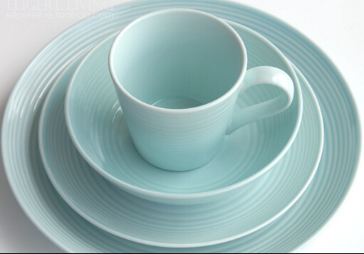 Pure light blue dinner plates food tray salad bowl dishes bandejas ceramic plates new bone china plates -in Dishes \u0026 Plates from Home \u0026 Garden on ... & Pure light blue dinner plates food tray salad bowl dishes bandejas ...