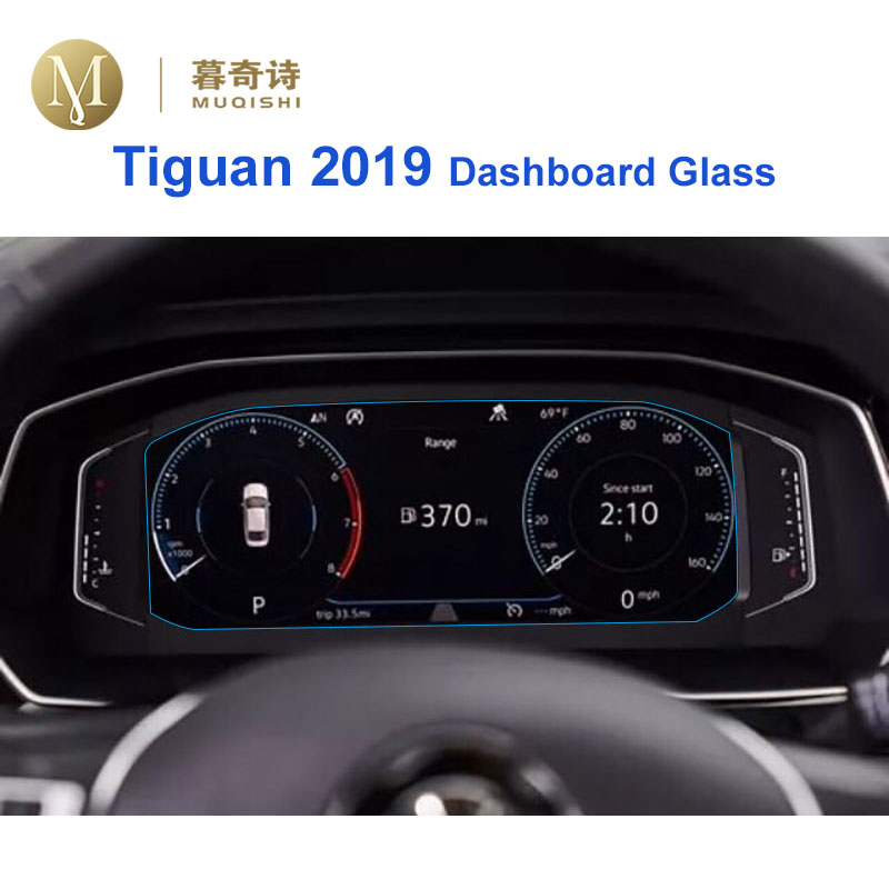 For Volkswagen Tiguan 2019 Instrument Panel Tempered Glass Screen Protector Dashboard Screen Anti Scratch Film Dash Board Glass