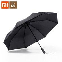 شاومي Mijia التلقائي للطي مظلة مشمس ممطر بومبرشوت الألومنيوم يندبروف مقاوم للماء UV المظلة الصيف الشتاء ظلة