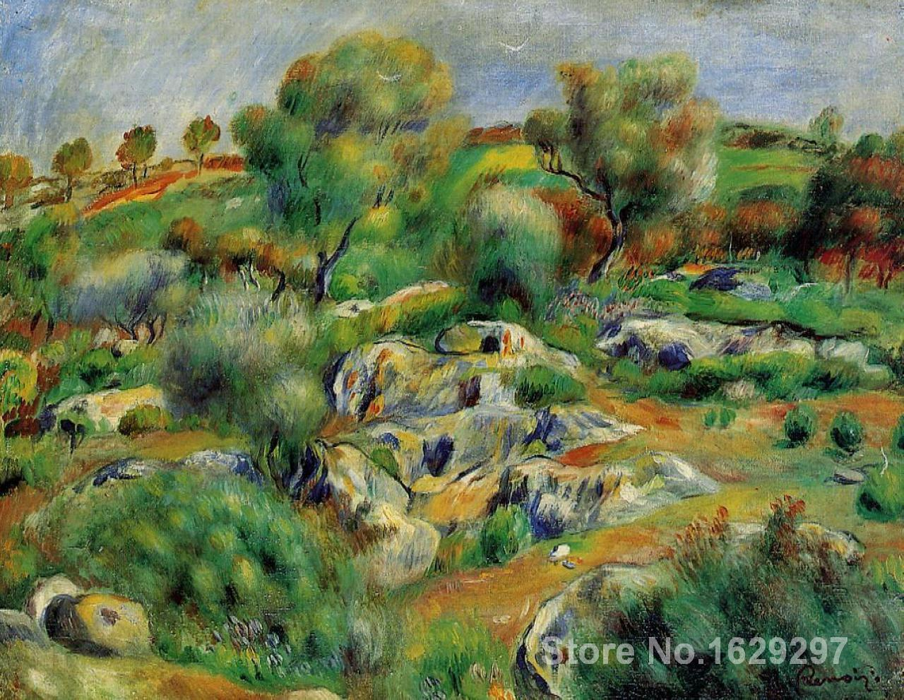 artwork of Pierre Auguste Renoir Breton Landscape handmade art paintings reproduction High Quality
