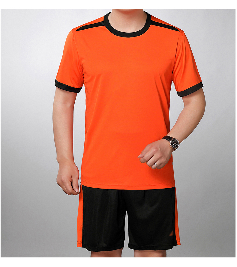 Man Tracksuit Summer Bright Color Two Piecs Short Pant Suit Set Male Casual Tshirt And Shorts Sets mens Tracksuits Yellow Orange Red Twinset (8)