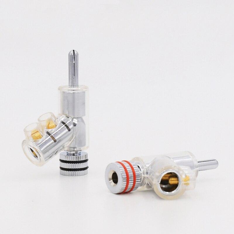 Câble de verrouillage pour haut-parleur connecteur banane câble audio plaqué Rhodium