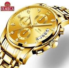 OLMECA Relogio Masculino для мужчин часы Роскошные Известный Лидирующий бренд Спортивные Повседневные платья военный армейский Кварцевый Наручные часы Saat