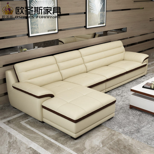 Genial Roma Modern L Shape Sectional Softline Synthetic Leather Corner Germany  Living Room Heated Leather Sofa With Single Chair Chaise