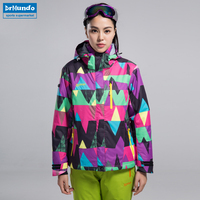2017 New Ski Jacket Women Waterproof Winter Snow Jacket Thermal Coat For Outdoor Mountain Skiing Snowboard Jacket Brand