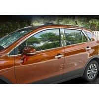 lsrtw2017 304 stainless steel car window trims for suzuki SX4 S Cross 2013 2014 2015 2016 2017 2018 2nd generation