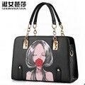 Г-жа женский пакет 2015 новый прилив мешок тип способа цепи женская сумка носить одно плечо сумочка SHUNVBASHA продажи бренд