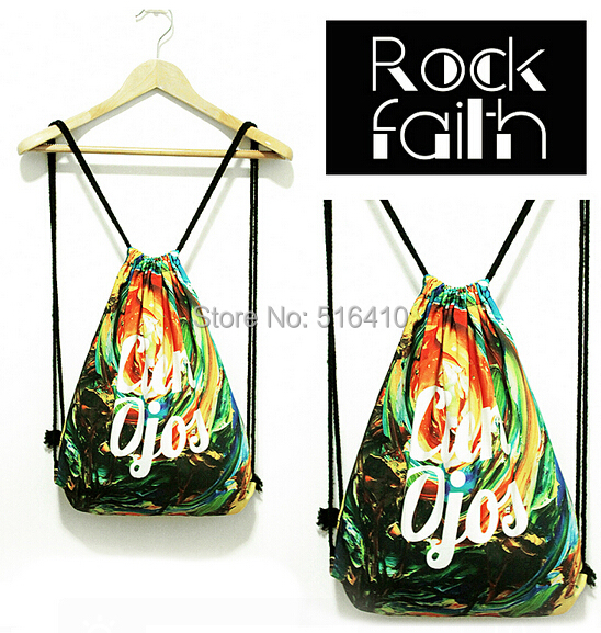Online Shop Original Design Canvas Drawstring Backpack Unique Rock ...