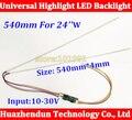 5 pcs 540mm CCFL brilho Ajustável levou kit tira backlight, Update 24 inch lcd para bakclight levou