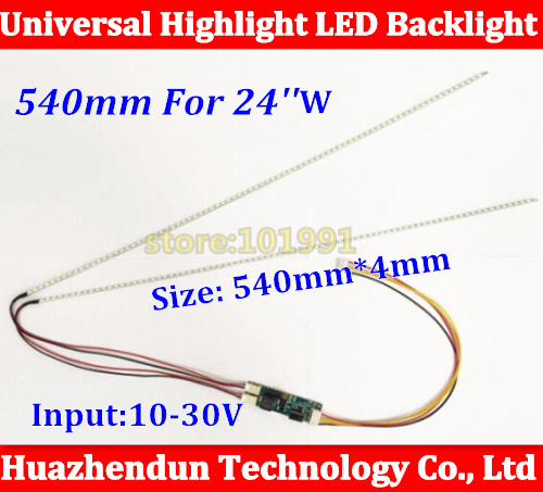 Prix pour 5 pcs 540mm Réglable luminosité CCFL rétro-éclairage led kit de bande, Mise À Jour 24 inch moniteur lcd à bakclight conduit
