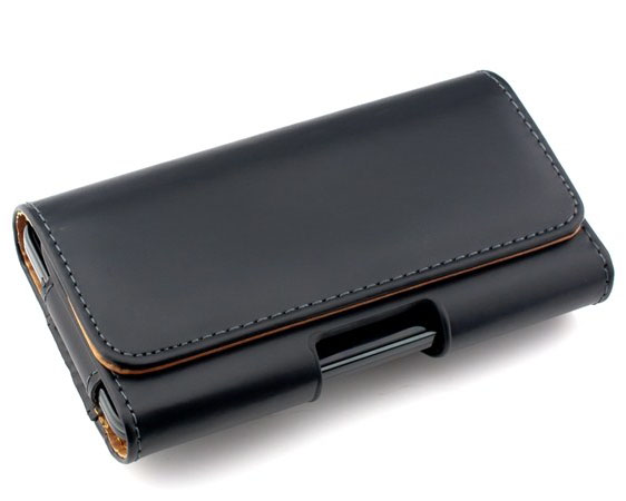 Lujo suave/bolsa del cuero del patrón de lichee bolsa clip de cinturón para sams