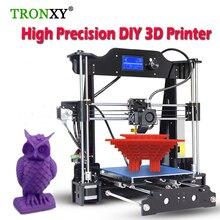 0.4 мм Высокая точность 3D комплект принтера DIY RepRap Prusa i3 алюминия большой принт Размеры 3D металла tronxy 3D принтеры С 8 г SD карты