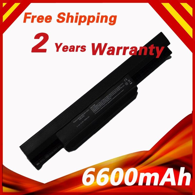 6600mAh Laptop Battery For ASUS A31-K53 A32-K53 A42-K53 A43 A45 A54 A83 A84 K43 K53 K54 K84 P43 P53 X43 X44 X53 X54 X5P X84