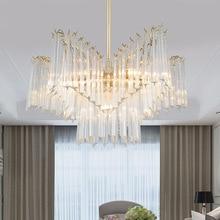 Modern crystal LED pendant lights luxury living room dinning room lighting Pentagram Iron bedroom hanging lights fixtures цена