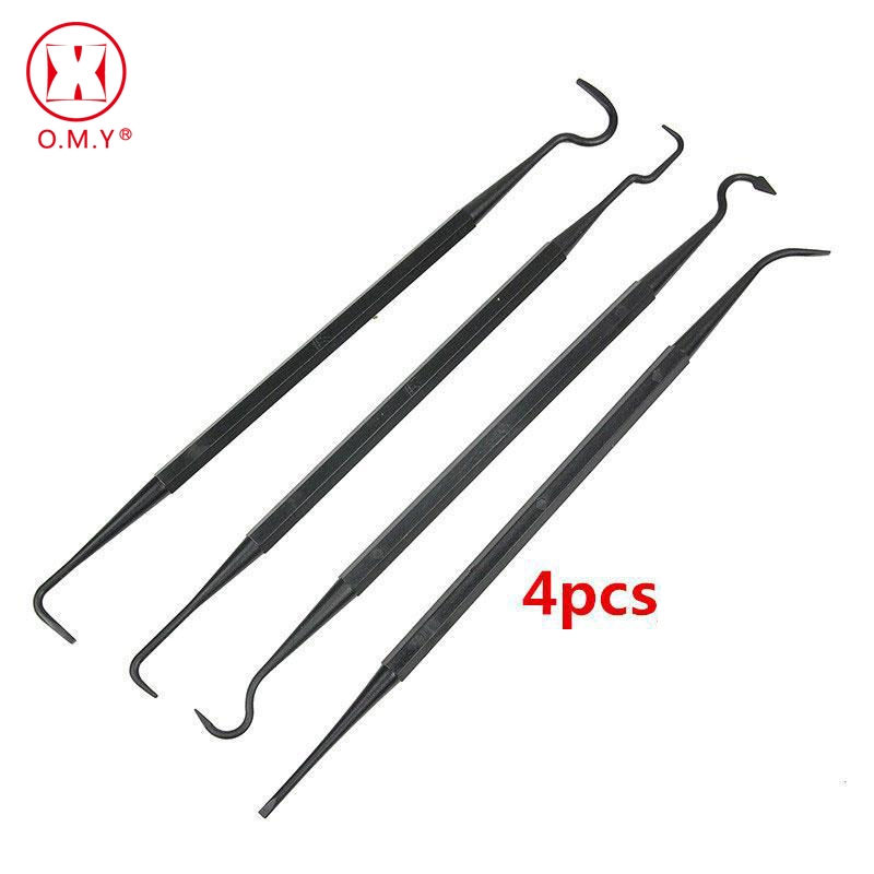 Learned 4pcs/set Hunting Universal Gun Cleaning Tools Double Ended Nylon Pick Set Portable Rifle Tube Cleaner Brush Hook Free Shipping 100% High Quality Materials