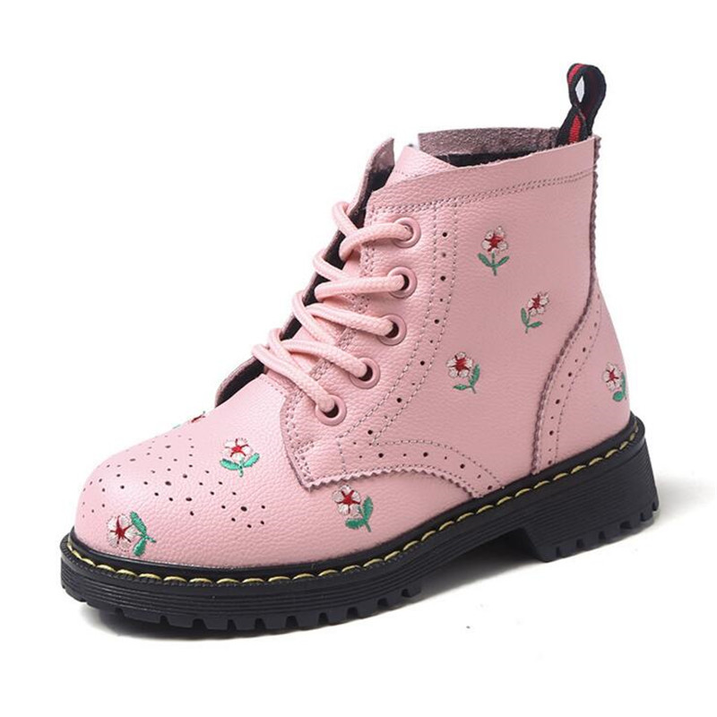 2018 Girls Genuine Leather boots Martin boots children snow boots Princess shoes autumn winter kids cotton shoes Single boots 2014 new autumn and winter children s shoes ankle boots leather single boots bow princess boys and girls shoes y 451