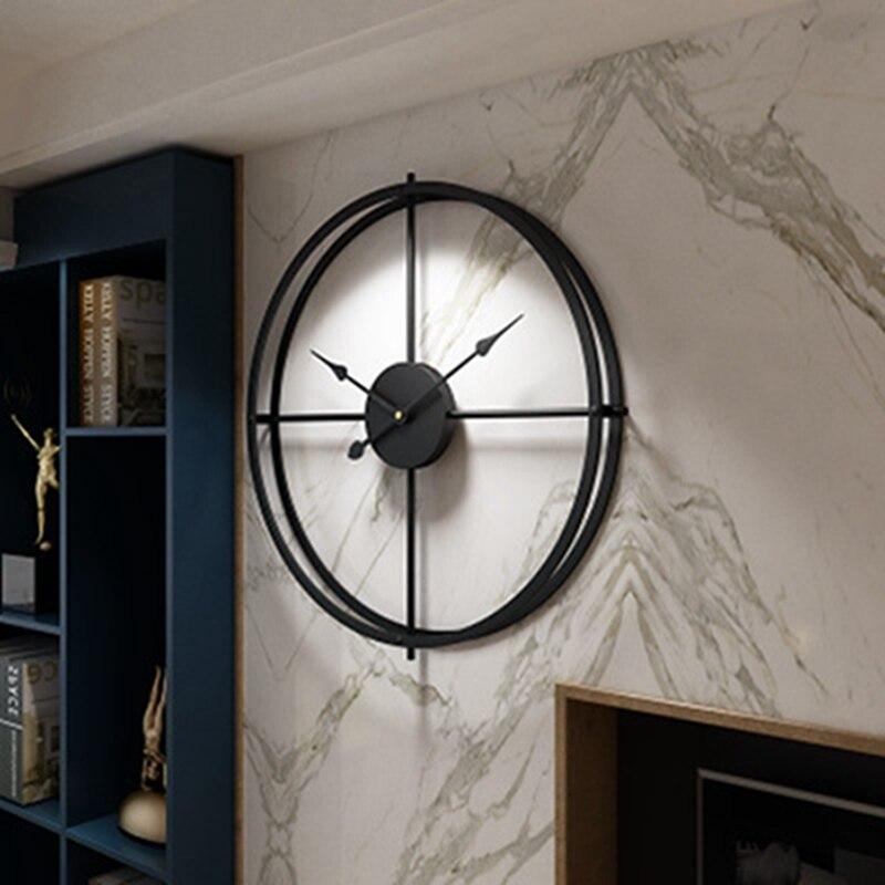 2019 bref 3d Style européen silencieux montre horloge murale Design moderne pour maison bureau décoratif suspendus horloges mur décor à la maison - 3