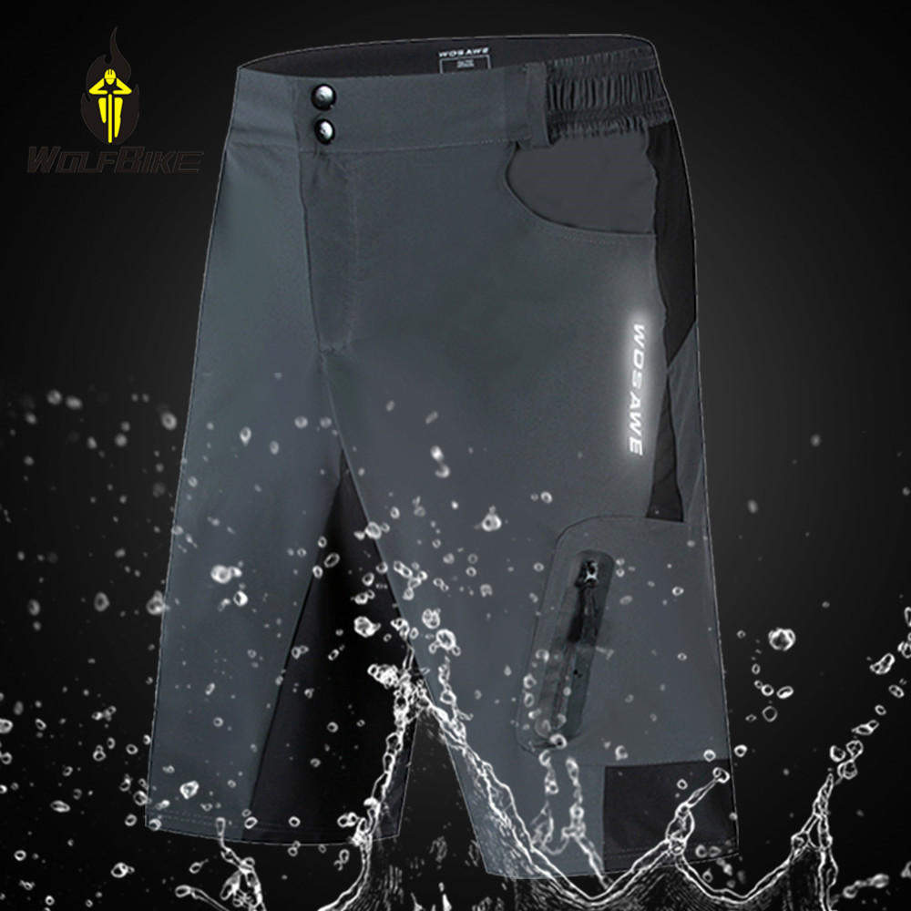 Wolfbike Summer Cycling Shorts Men Loose Fit Underwear Motorcycle Bicycle Breathable Waterproof Downhill MTB Bike Shorts