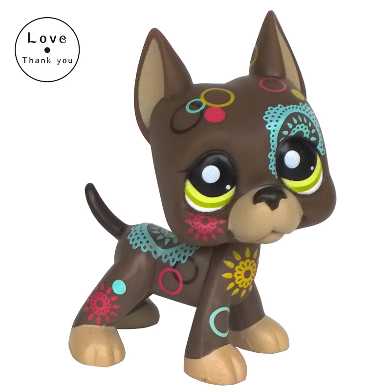 pet shop lps toys Great Dane Dog #1439 Brown Tattoed Puppy Yellow Eyes Animal Figure Child Toy matador 185 70 r14 sibir ice mp 50 fd 88t