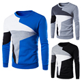 Fashion New Men Pullover Sweatshirt Cotton Blend Long Sleeve Patchwork Color Hoodies Men Winter Streetwear Size M-XXL