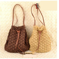 25x30CM New straw bag woven beach  soft  shoulder  female bag A2359