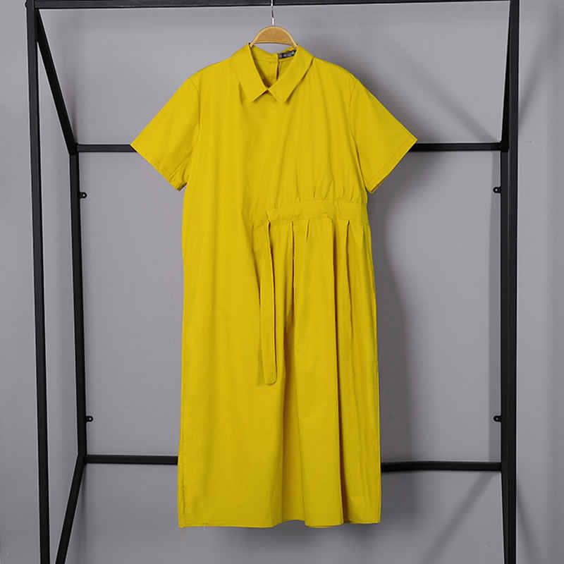 XITAO , женское платье миди на завязках, элегантное, повседневное , размера плюс, подиум, воротник Питер Пэн, винтажный стиль , женские топы , Новинка лета, WBB3423