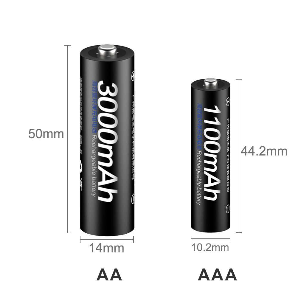 PALO 4 шт. 1,2 в Ni-MH AA аккумуляторная батарея + 4 шт. 1,2 в aaa перезаряжаемые батареи + ЖК-дисплей смарт-зарядное устройство для AA AAA