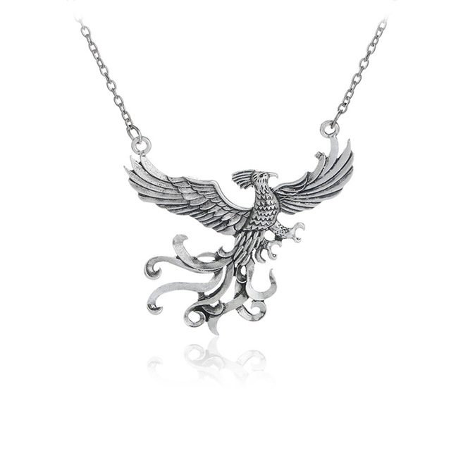 2017 new fashion phoenix fire bird necklace vintage antique silver 2017 new fashion phoenix fire bird necklace vintage antique silver firebird pendant jewelry for men and aloadofball Images