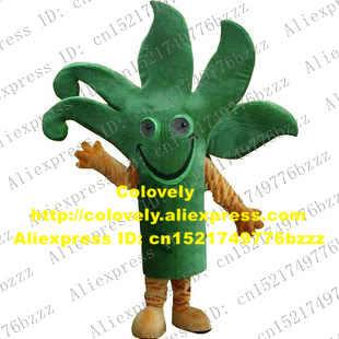 Mewah Pohon Hijau Maskot Kostum Mascotte Cactaceae Barbary FIG Kaktus Kaktus dengan Mulut Besar Banyak Hijau Cabang No 1515 Gratis kapal