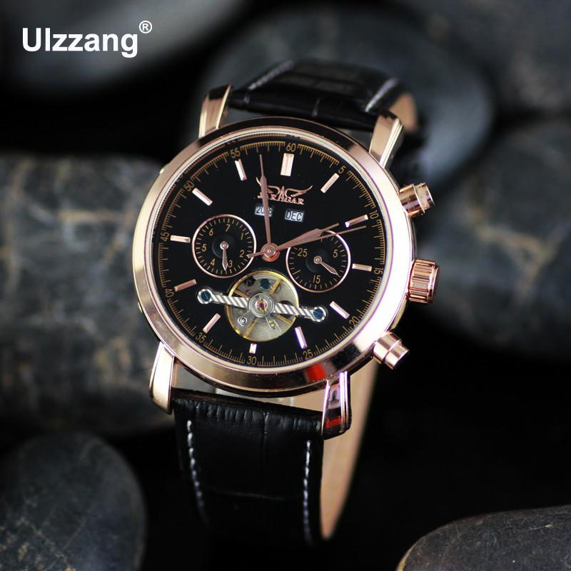 Luxury Brand Mechanical Calendar 3 Dials Genuine Leather Quartz Dress Business Wristwatches Watch for Men Male A+ Quality