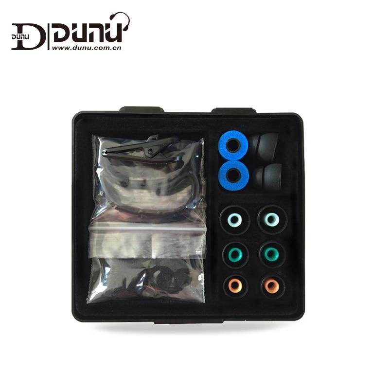 DUNU Original Accessories Box include Foam tips silicon ear tips Ear hook for DNUN Earphones TITAN 3/5 DN-2000/DN200J/3001