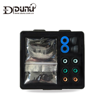 DUNU מקורי אביזרי תיבת כולל קצף טיפים סיליקון אוזן טיפים אוזן וו עבור DNUN אוזניות טיטאן 3/5 DN 2000/DN200J/3001