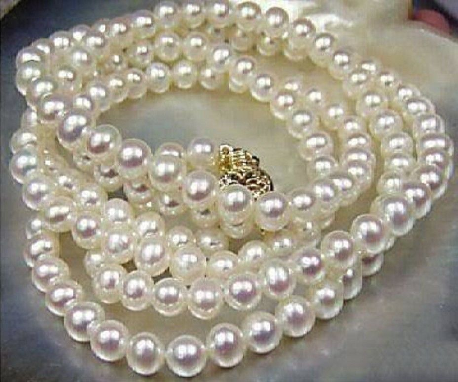 Natural AAA Round 8-9mm South Sea White Pearl Necklace 25