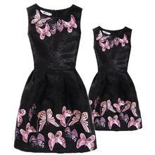Новинка одежда для мамы и дочки семейные платья подходящая семьи