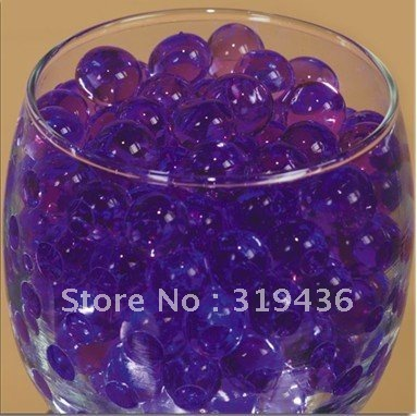 Water Polymer Beads Pearl Hydrogel In Purple For Glass Vase Filler