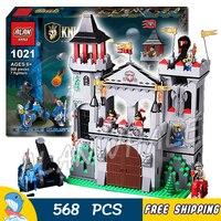 568pcs The Eagle Castle Medieval Lion Knights Kingdoms Tower Model Building Blocks Kit Bricks Children Toys