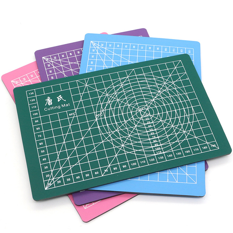 PVC Cutting Mat Patchwork Tools Cutting Plate Pad Rectangle Grid Lines Double-Sided Self-Healing Fabric Leather Paper DIY Tools