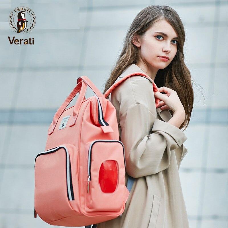 VERATI Waterproof multifunctional fashion Mummy bag large capacity infant bag Diaper backpack Bag Portable trailer baby bag V132