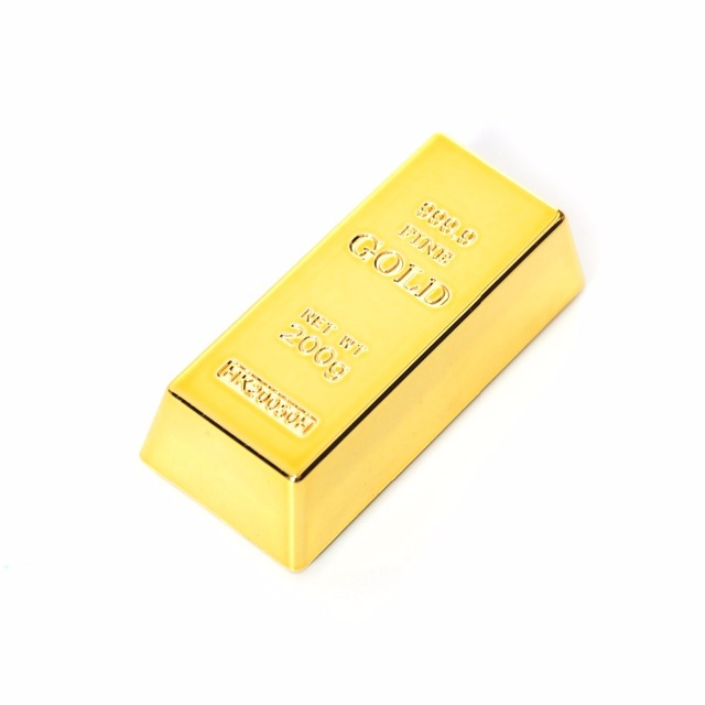 1pc Creative Gold Brick Shape Refrigerator Magnets Resin Craft Gift For Home Refrigerator Decoration Souvenir Birthday Gift 4
