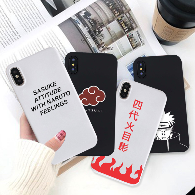 GYKZ Sasuke Naruto Soft Silicone Fitted Case For IPhone 7 XS MAX XR X 8 6 6s Plus Cartoon