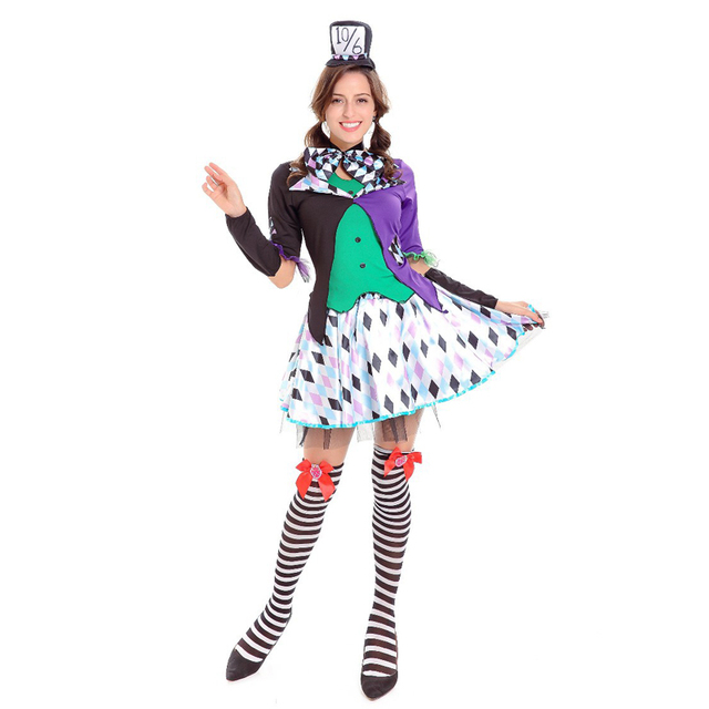 SESERIA Halloween Clown Costumes Cosplay Adult Costumes Circus Female Performance Clothes  sc 1 st  AliExpress.com & SESERIA Halloween Clown Costumes Cosplay Adult Costumes Circus ...
