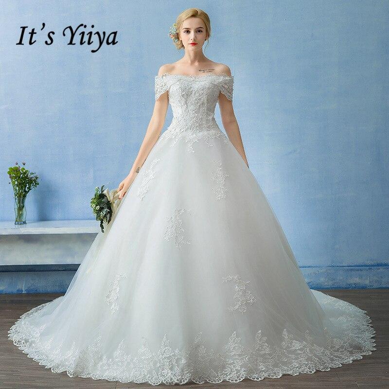 Simple Wedding Dresses Boat Neck: It's YiiYa Boat Neck Wedding Dresses High Quality Simple