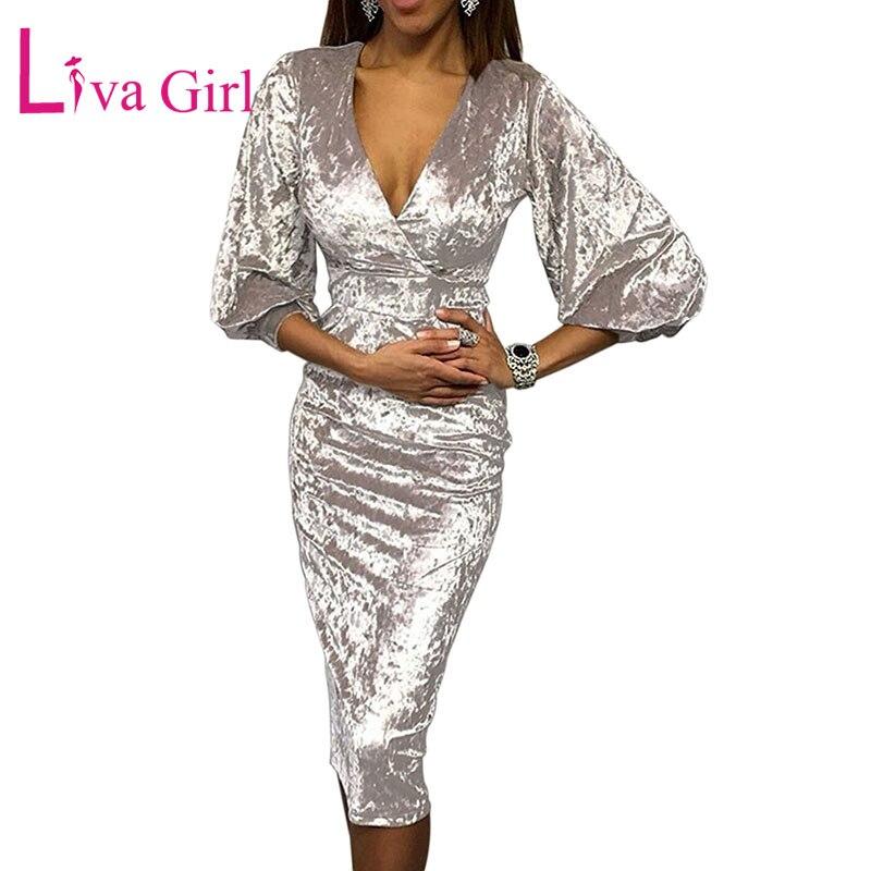 Apricot-Glistening-V-Neck-Velvet-Midi-Dress-LC611048-18-2