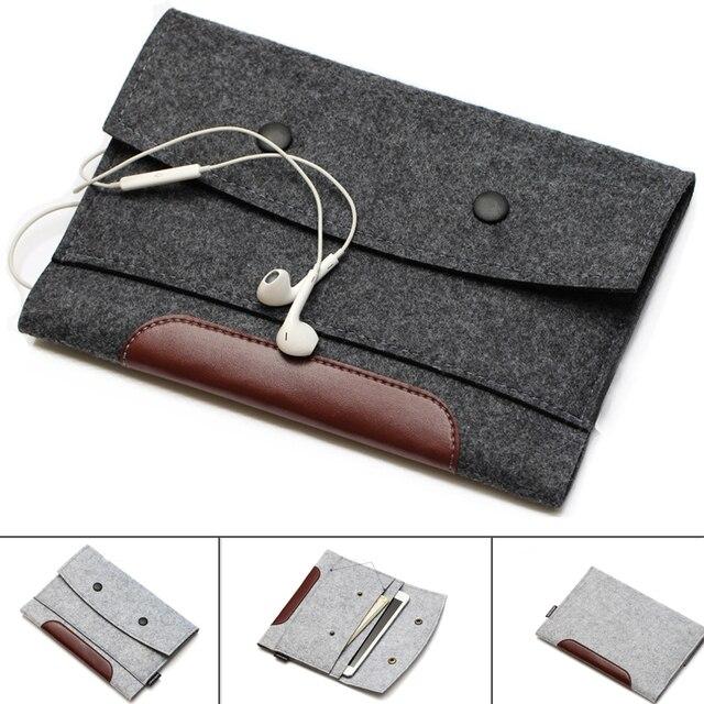 Шерсть Войлок для ноутбука чехол Тетрадь сумка планшет чехол 7 8 10 11 12 13 14 15 17,3 для Macbook Air Pro для Xiaomi 13,3 15,6 дюймов