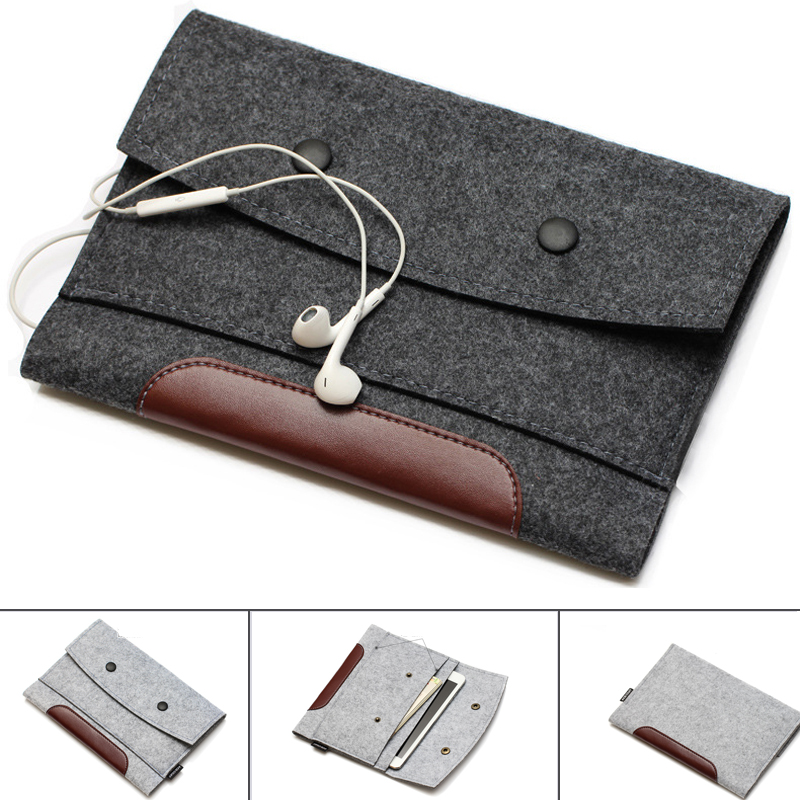 Wool Felt Laptop Sleeve Case Notebook Bag Tablet Pouch 7 8 10 11 12 13 14 15 17.3 for Macbook Air Pro For Xiaomi 13.3 15.6 inchWool Felt Laptop Sleeve Case Notebook Bag Tablet Pouch 7 8 10 11 12 13 14 15 17.3 for Macbook Air Pro For Xiaomi 13.3 15.6 inch
