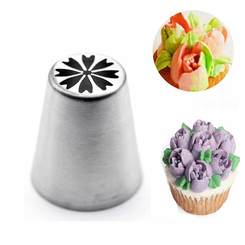 9# Russian Nozzles Tulip Icing Piping Nozzles Cake Decoration Tips Baking Pastry Tools DIY Sugarcraft Cupcake Dessert Decorators